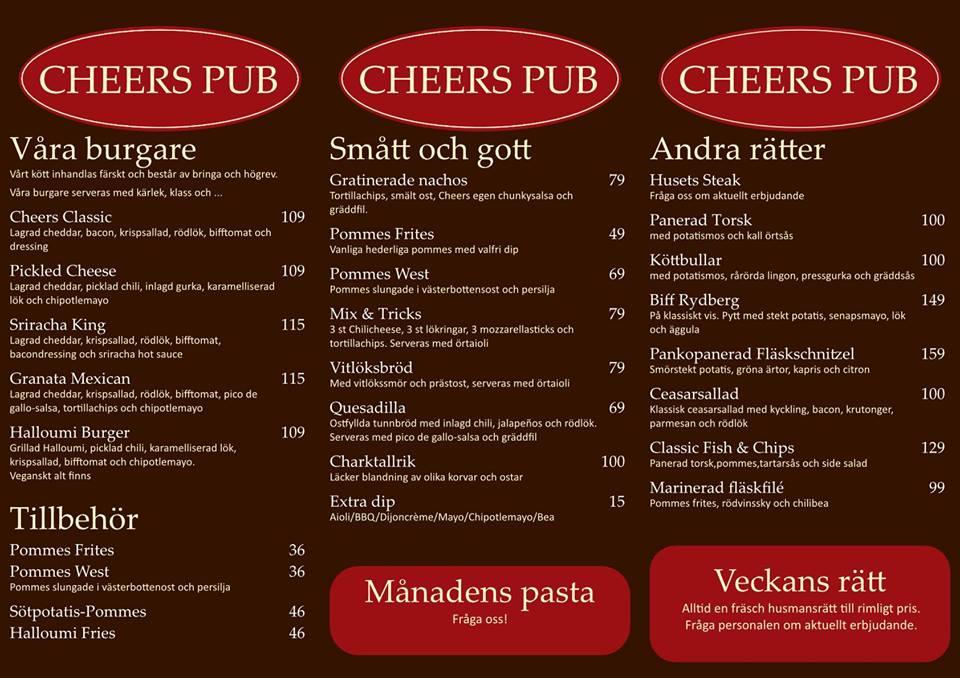 Cheers pub Göteborg